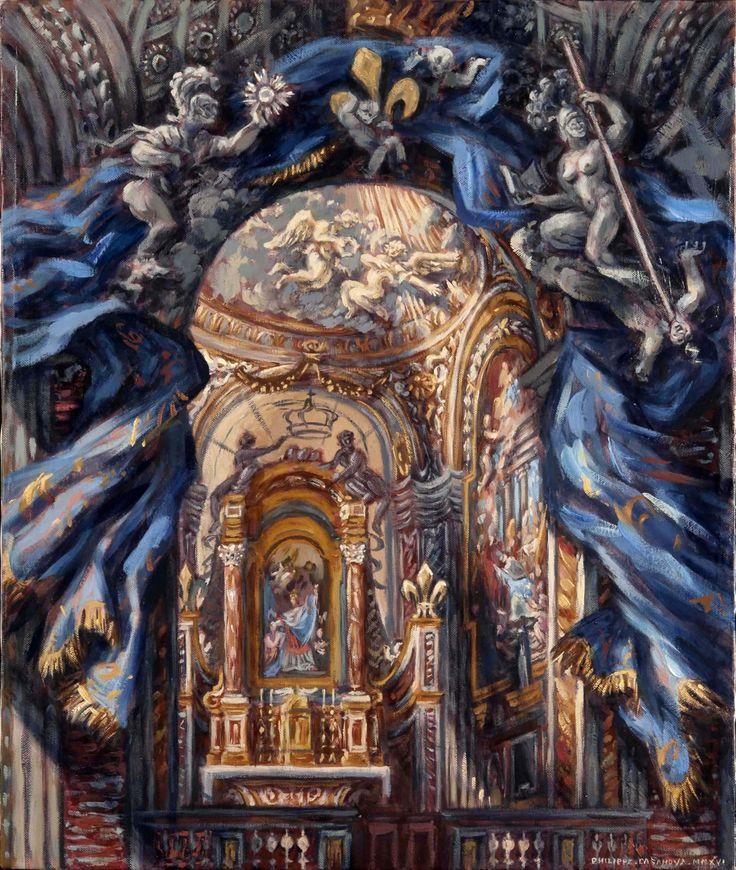 Philippe Casanova; Saint Louis des Français; national church of France in Rome; oil on canva; 60x51 cm; 2016; artist's collection