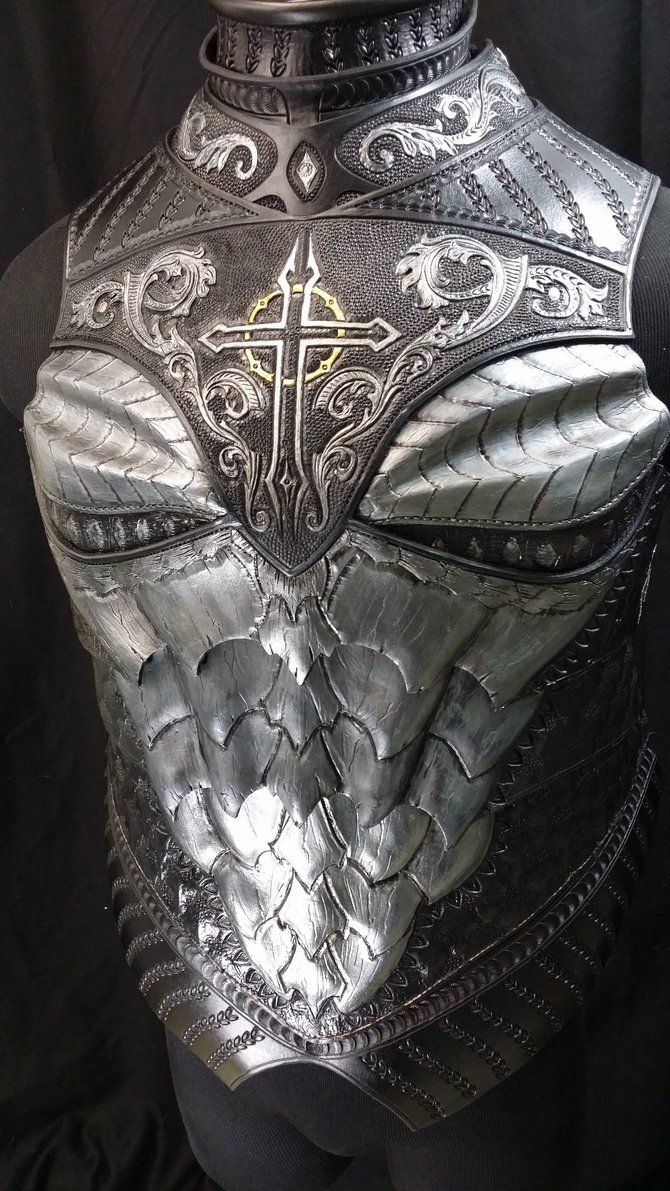 Dragon Crusader Breastplate Preview by Azmal cosplay costume LARP equipment gear magic item   Create your own roleplaying game material w/ RPG Bard: www.rpgbard.com   Writing inspiration for Dungeons and Dragons DND D&D Pathfinder PFRPG Warhammer 40k Star Wars Shadowrun Call of Cthulhu Lord of the Rings LoTR + d20 fantasy science fiction scifi horror design   Not Trusty Sword art: click artwork for source