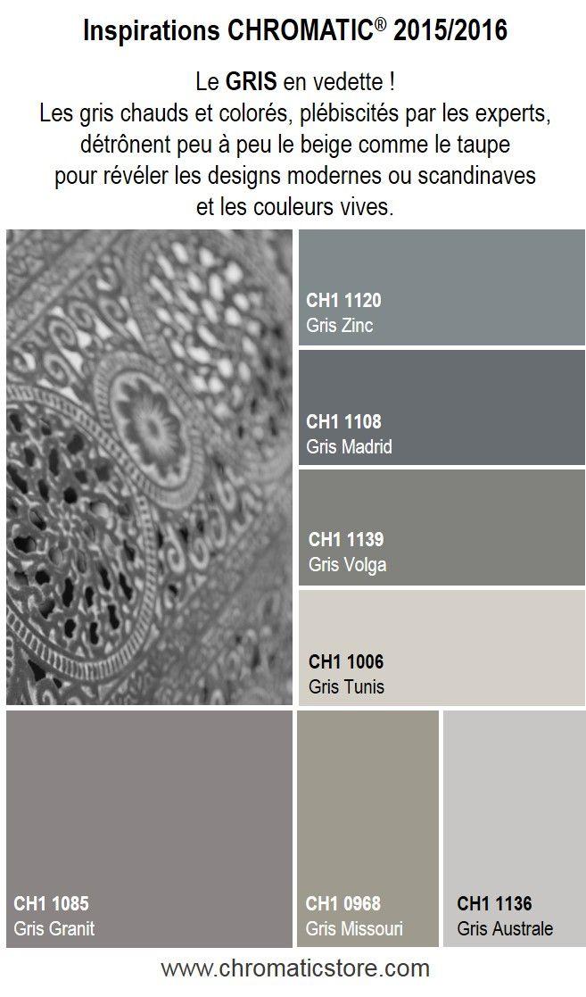 Les gris chauds et colorés, plébiscités par les experts, détrônent peu à peu le beige comme le taupe pour révéler les designs modernes ou scandinaves et les couleurs vives. www.chromaticstore.com #tendances #gris