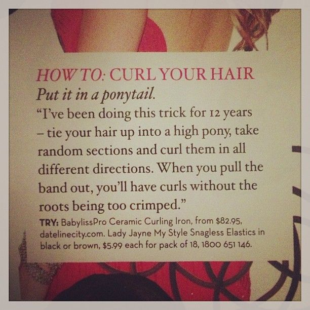 How to really curl your hair.