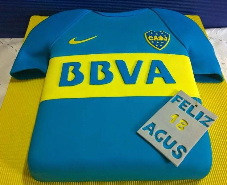 TORTA DUSTY- Patricia Gonzalez: Boca Juniors, Torta camiseta,