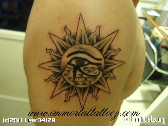 Sun Tattoos | sun eye of horus pyramid - Tattoo Artists.org