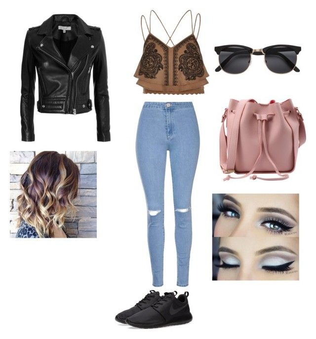 """""""Casual"""" by elmiller95 on Polyvore featuring Glamorous, River Island, IRO and NIKE"""