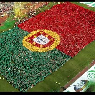 Portuguese flag made with women.world record. More on www.portugaldreamcoast.com