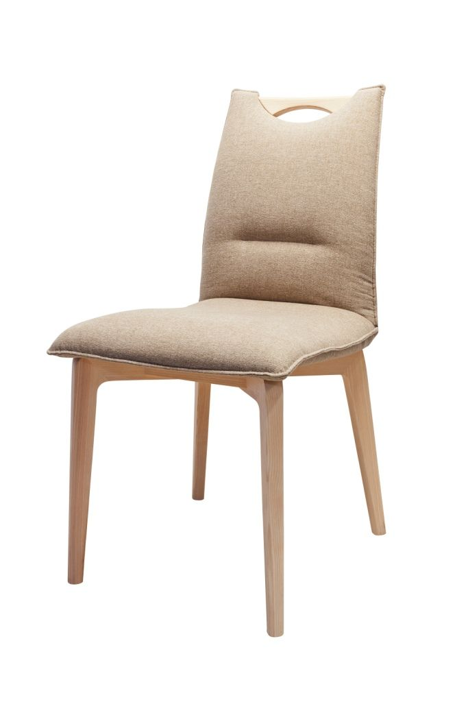 S61 chair designed by Klose. 4 options of stitching through backrest, 2 versions with wooden handpiece. #KloseFurniture #modernchair