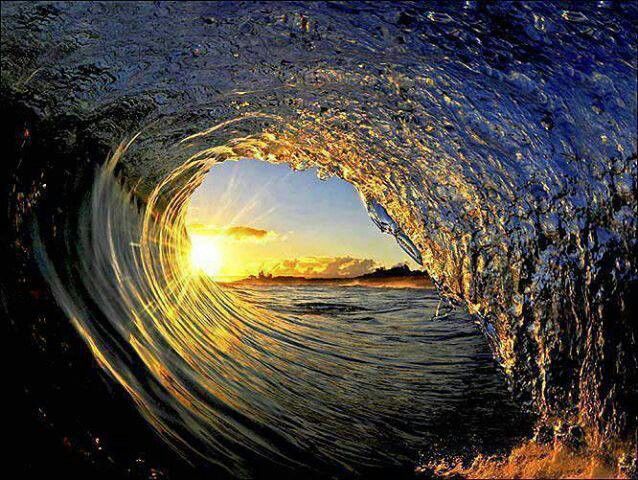 Sunset With Sea Wave Tap To See More Breathtaking Beach: Keep Your Eyes Open