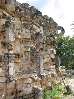 ~ god Chac in Kabah, (Palace of the Masks) Puuc Mayan archaeological site, Yucatan (Mexico)