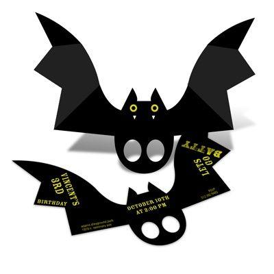 Batty Birthday -- Halloween Birthday Party Invitations