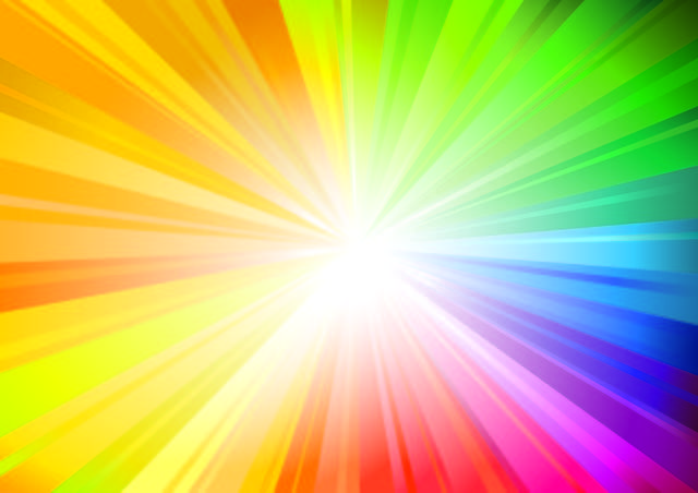 Bright Rainbow Sunbeam Background Colorful Backgrounds Rainbow