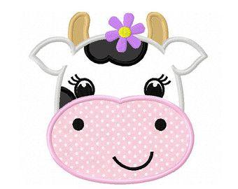 CowFarm animal Digital Applique 4x4 5x5 6x6 by CherryStitchDesign