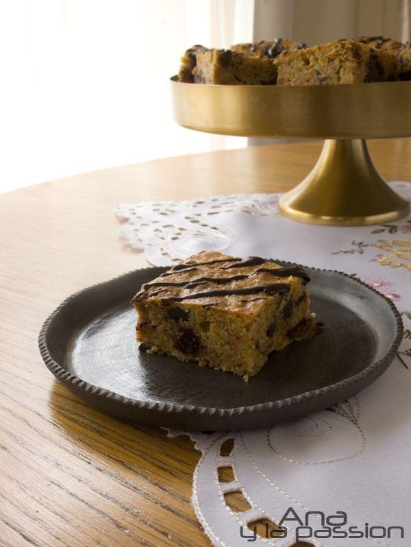 carrot chocolate cube #sugarfree #dessert plate by #lantosjudit  by Ana y la passion