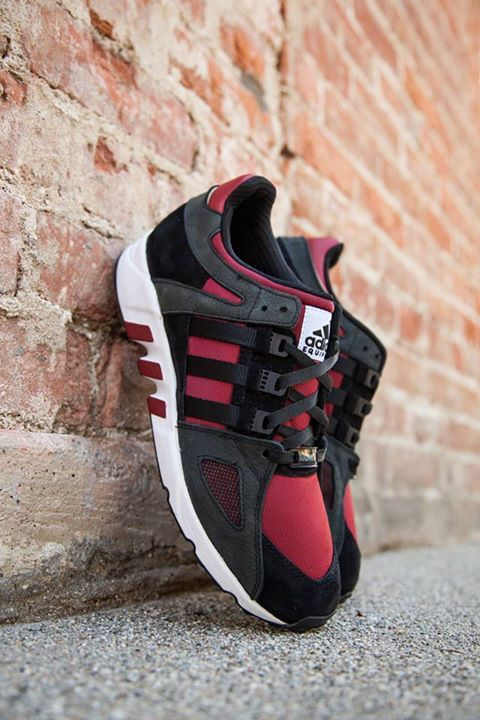 adidas Men's EQT Support RF (Black Turbo Red) KicksUSA