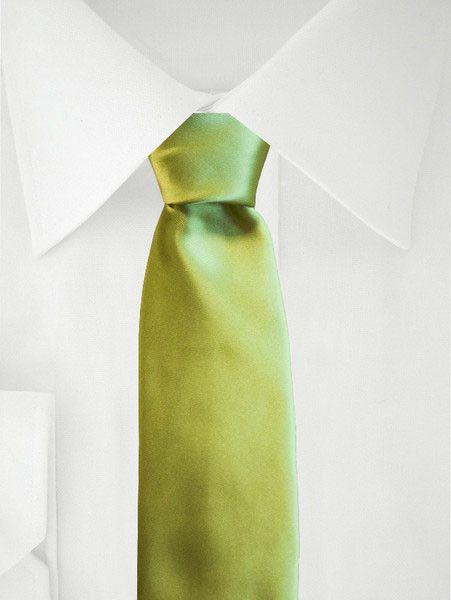 Groene Stropdas Lime Satijn Uni