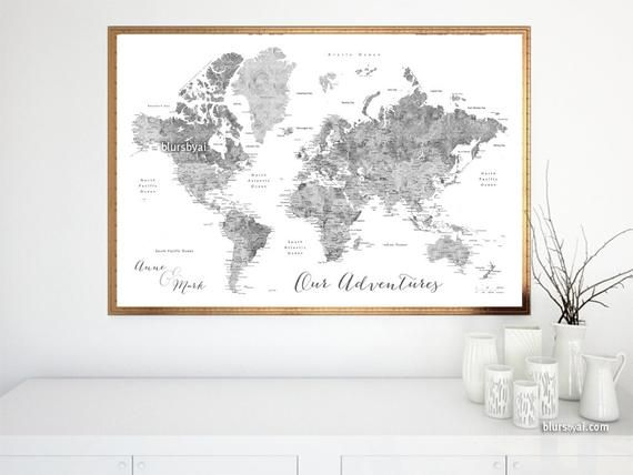 Personalized map, personalized couple map, travel art