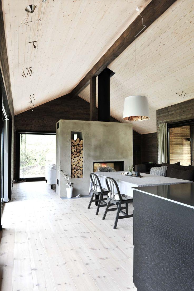 Stue. Moderne hytte på Nerskogen. Bo Bedre.