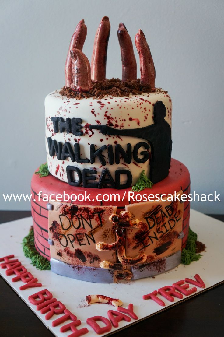 Best 25 Walking Dead Cake Ideas On Pinterest Walking