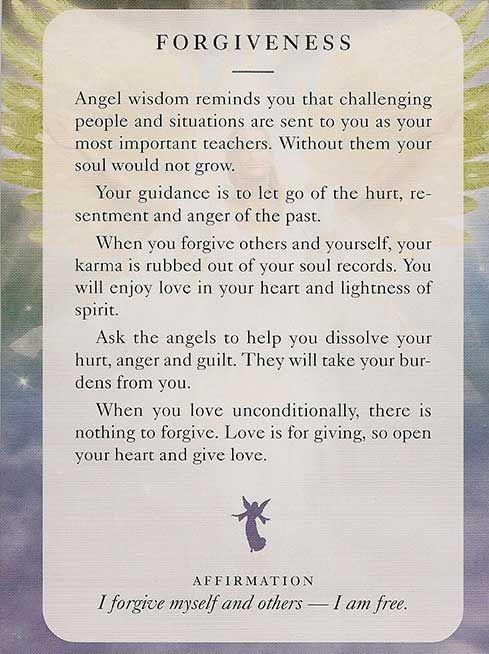 """Forgiveness"" – Angel Card – Diana Cooper"