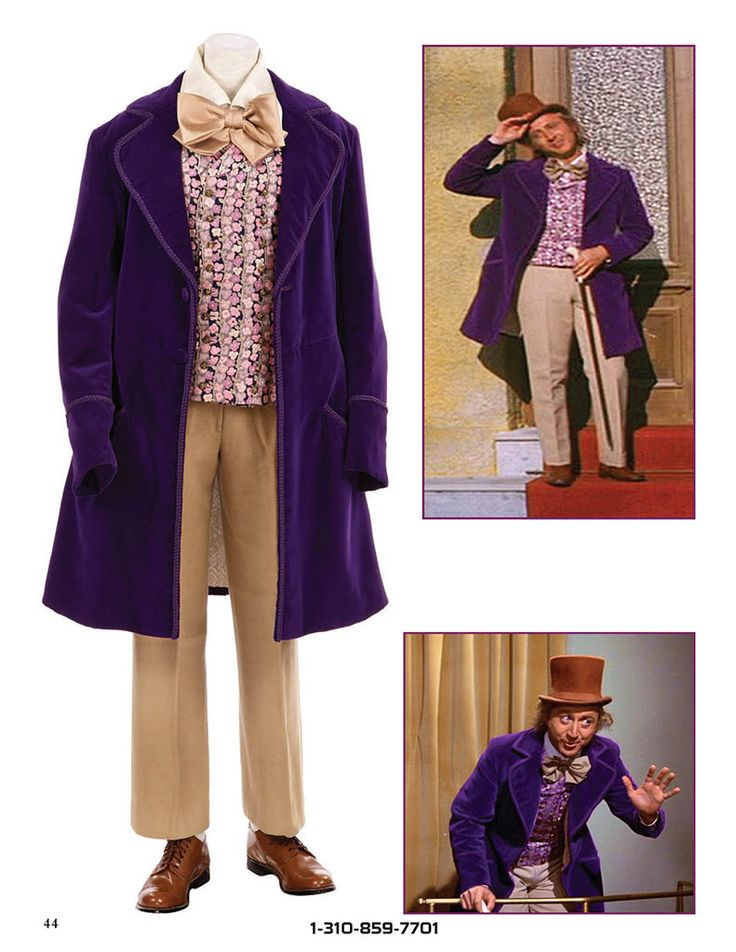 Gene Wilder Willy Wonka costume 1.  Source:  Dreier Collection - ProfilesInHistory.com
