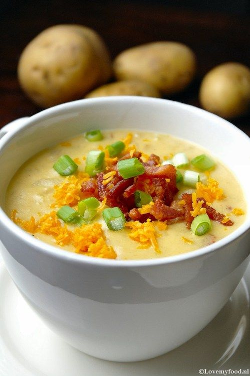 Aardappelsoep met spekjes - Lovemyfood.nl