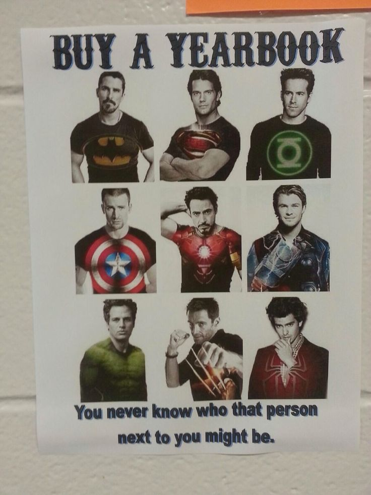 Clever Staff Made Yearbook Sales Poster.