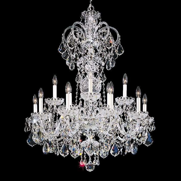 Schonbek Olde World 32 W Silver Swarovski Crystal Chandelier 74211 Lamps Plus Kristal Lampu Kemewahan