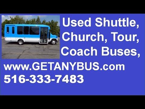 NJ buyers can get used buses for sale from NY Dealer | Call CHARLIE @ 516-333-7483 | 2010 Ford E450 Non-CDL Wheelchair Shuttle Bus