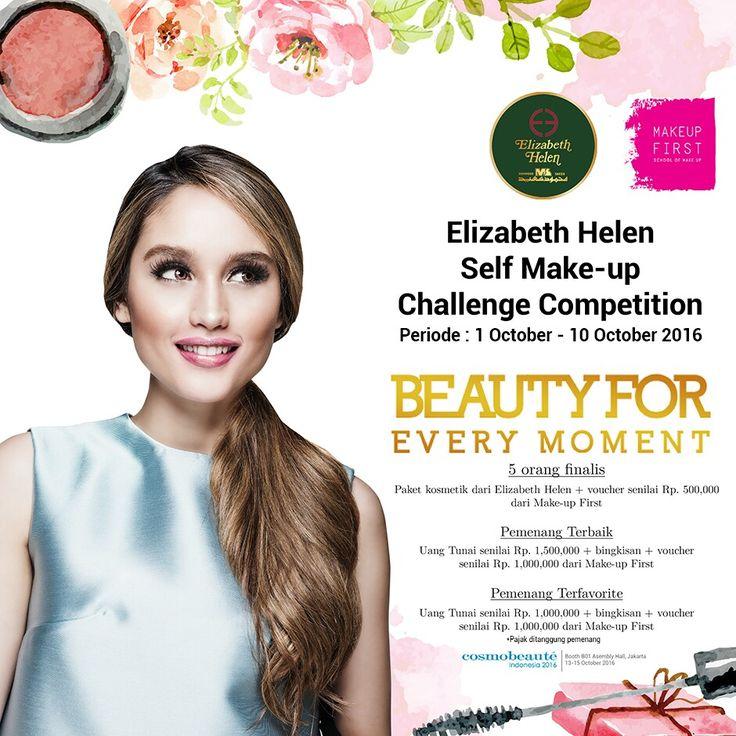 Elizabeth Helen Make-up Challengeakan berakhirhariiniyaLadies.. Buatkamuyangbelum ikutan,buruanambildompet make upkamu. Create your flawless make-up and take a photoselfie 😉