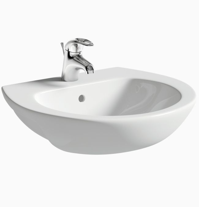 Ideal 550mm Semi Recessed Basin