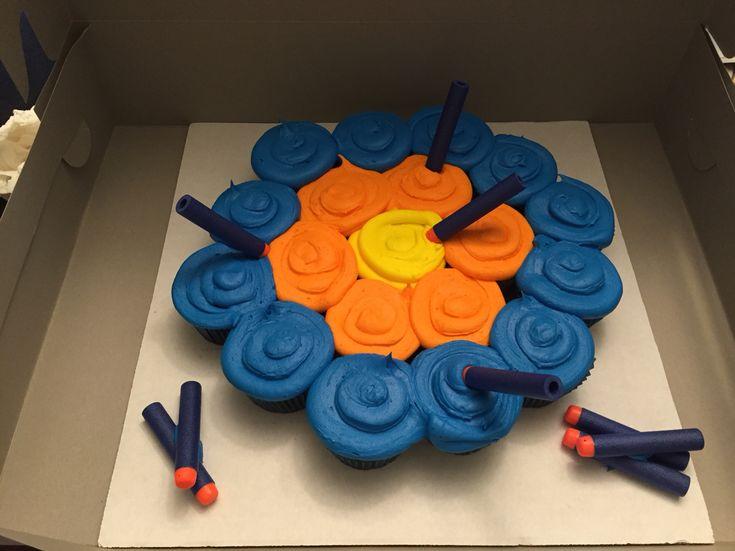 Nerf Gun Target Cupcakes
