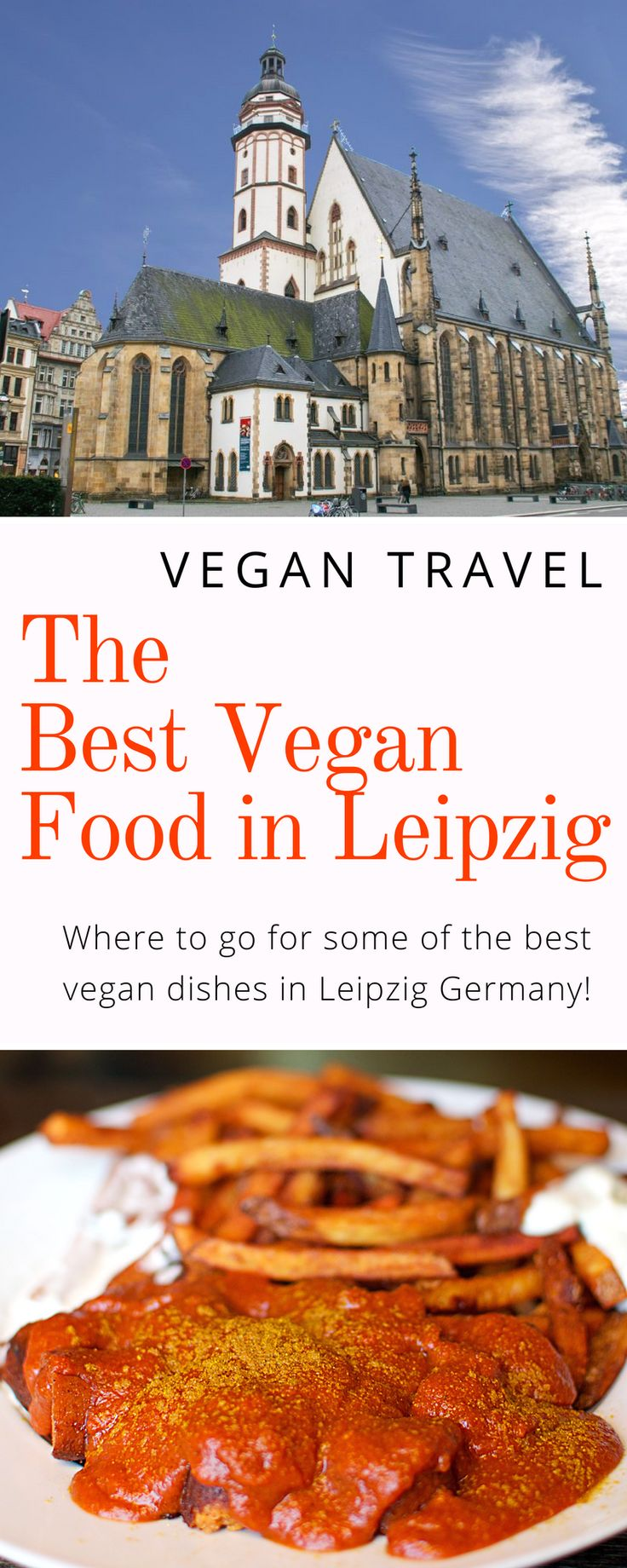 Vegan Travel Guide: The best vegan food in Leipzig, Germany! Vegan fine dining, sushi, pizza, Currywurst, cake, and more! Plus, where to stay in Leipzig!