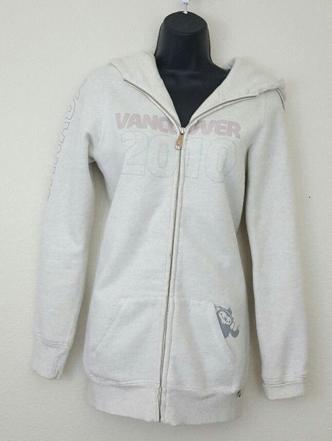 Women's Canada 2010 Vancouver Olympics Light Beige Hoodie SZ SMALL Womens #ParkLife #Canada