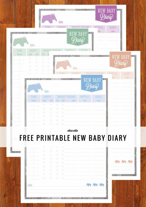 New Baby Diary | Free Printable from Eliza Ellis & Someday Crafts