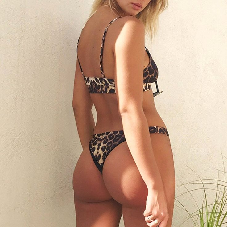 Klv Micro Bikini Sexy Swimming Women 2019 Fashion Leopard Push-Up Padded Beach Two Piece Suits Summe