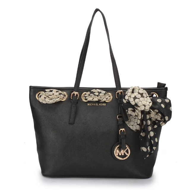 #Share Michael Kors Jet Set Scarf Large Black Totes $69.99