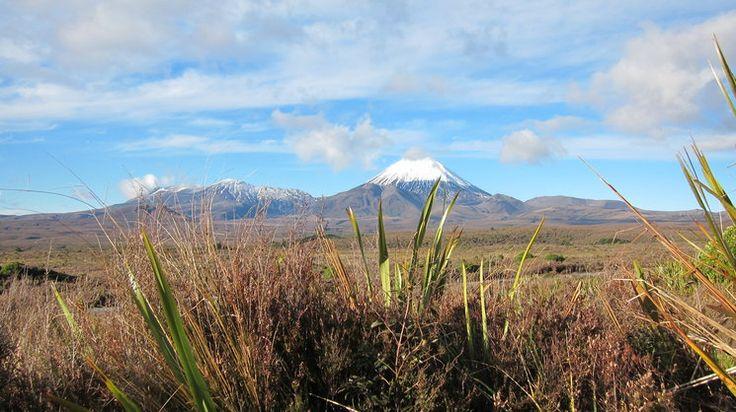 Mt Ngaruhoe and Mt Tongariro