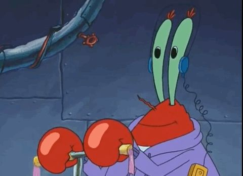 "That time Mr. Krabs listened to music through his eyes. | 19 Times The ""Spongebob"" Writers Said Screw Logic"