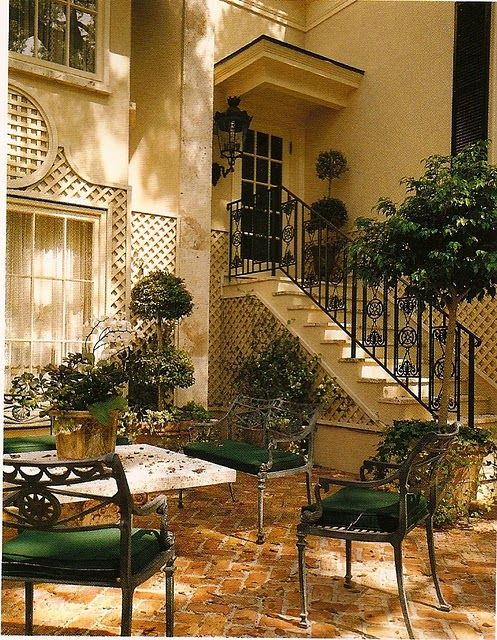 Outdoor courtyard trees <3