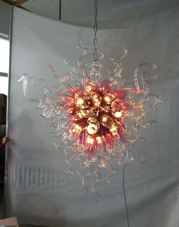 Modern Hand Blown Glass Ball Chandelier for Sale
