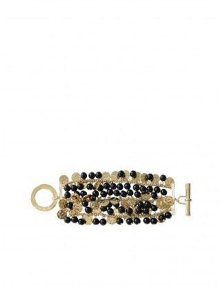 Black and Gold Shimmy Bracelet