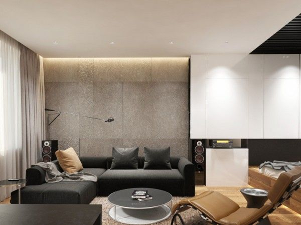 Apartment Designs For A Small Family Young Couple And A Bachelor All Under 50 Square Meters