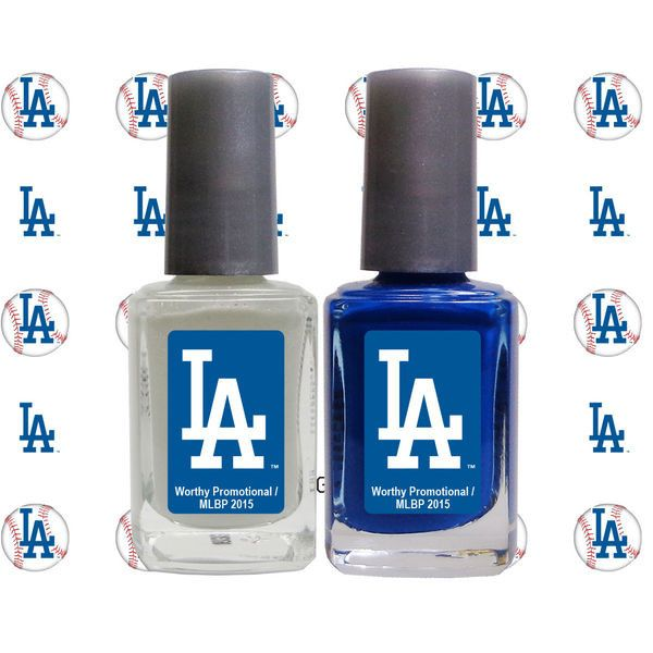 Los Angeles Dodgers 2-Pack Nail Polish with Nail Decal