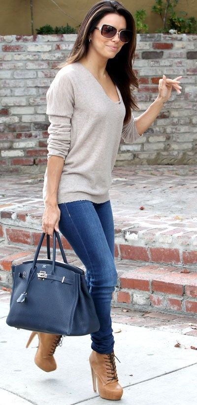 Street Style | Eva Longoria obsessed with this from head to toe.