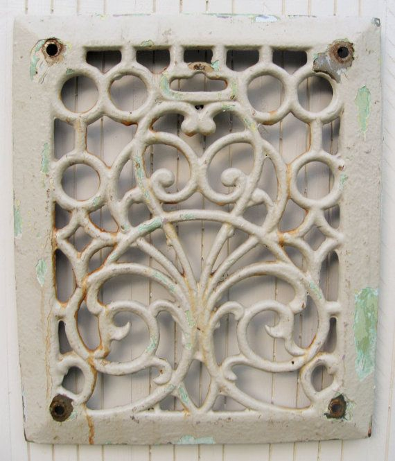 Antique Iron Grate Architectural Salvage Shabby by PoemHouse, $34.00