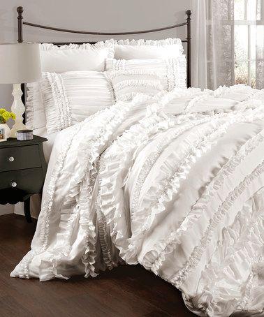 Another great find on #zulily! White Belle Comforter Set #zulilyfinds