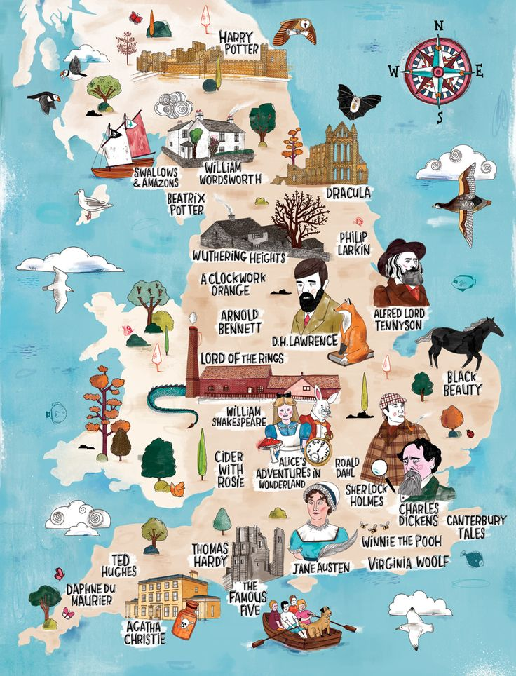 Explore places that inspired some great writers with this interactive literary map of the UK.
