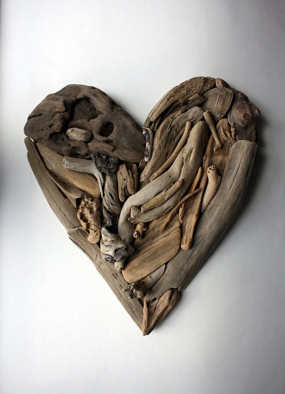 driftwood heart Valentine Nr1 made from natural by Yalos on Etsy, $69.90