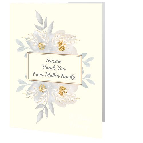 Thank You Cards - Memorial Cards Direct