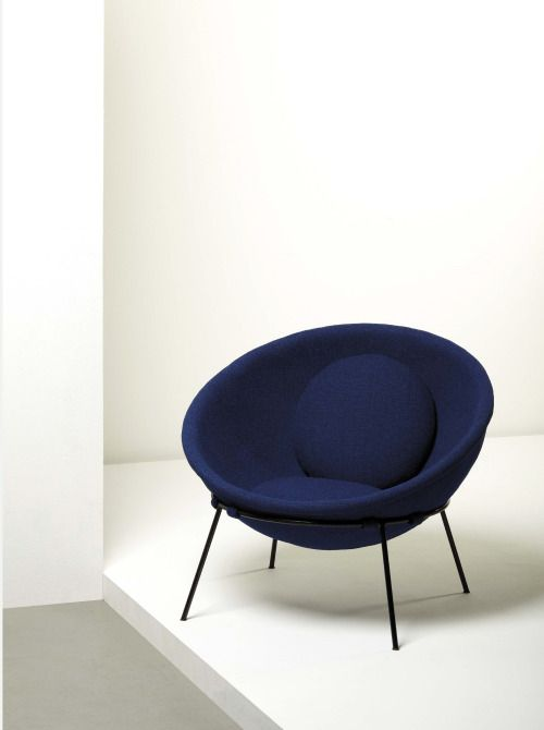 Lina Bo Bardi   Bowl Chair, Circa Formed Aluminum, Painted Iron And Fabric,  Brass. Manufactured By Ambiente, Italy.