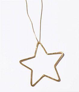 Seeme large gold star necklace | Linda Foundation