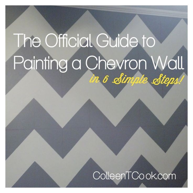 The Official Guide to Painting a Chevron Wall // In 6 Simple Steps! I want the chevron paint on a small wall in the bathroom that will match the shower curtain :)